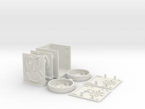 MiniFloppyBot KIT in White Natural Versatile Plastic