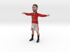 Eric Cantona in Manchester United Jersey in Full Color Sandstone