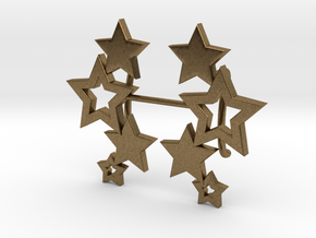Earring Star 1011 in Natural Bronze