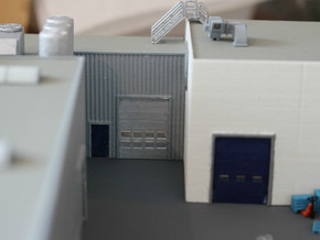 N Scale 3x Overhead Door #2 in Smooth Fine Detail Plastic