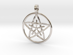 VENUS MORNINGSTAR in Rhodium Plated