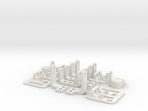 miniFloppyBot Leg Kit in White Natural Versatile Plastic