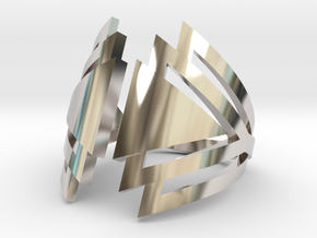 Ring Triangles in Rhodium Plated Brass