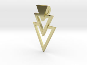 Pendant Triangles in 18k Gold Plated Brass