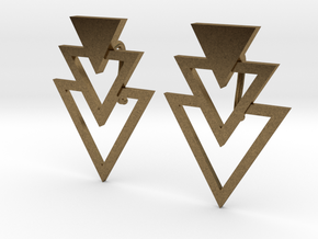 Earring Triangles in Natural Bronze
