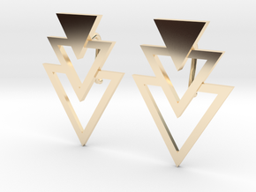 Earring Triangles in 14K Yellow Gold