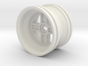Wheel Design II in White Natural Versatile Plastic