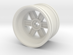 Wheel Design V in White Natural Versatile Plastic