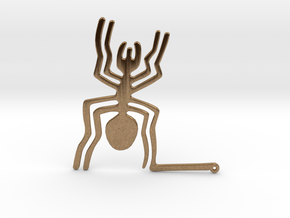 Nazca: The Spider in Natural Brass