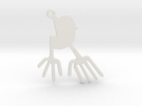 Nazca: The Bird in White Natural Versatile Plastic