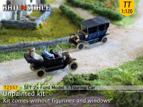 SET 2x Ford Model T (TT 1:120) in Frosted Ultra Detail