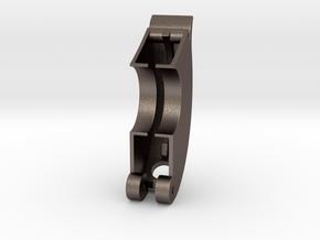 BaseHalfSteelSoftEdges2 in Polished Bronzed Silver Steel