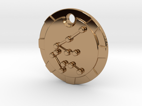 Aquarius Pendant in Polished Brass
