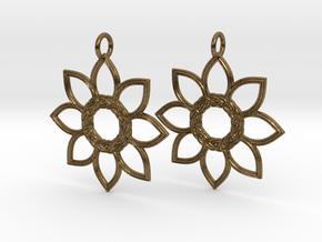 Celtic Flower Earrings in Natural Bronze