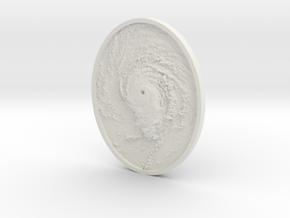Hurricane Eye Pendant in White Natural Versatile Plastic
