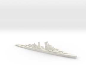 HNLMS De Ruyter (1953) w/ Barrels, 1/2400 in White Natural Versatile Plastic