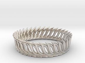 Ring 17.3mm in Rhodium Plated Brass