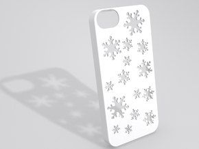 Snowflake iPhone 5 case in White Natural Versatile Plastic