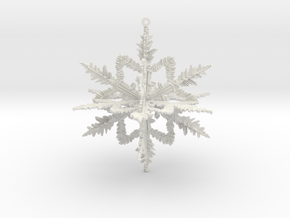 Snowflake , Christmas ball  in White Natural Versatile Plastic