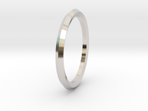 Penta Ring - An unconventional Wedding Ring in Rhodium Plated Brass: Medium