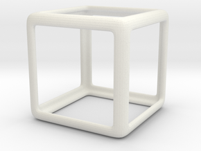 smooth cube in White Natural Versatile Plastic