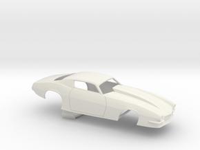 1/8 Pro Mod Camaro Cowl Hood in White Natural Versatile Plastic