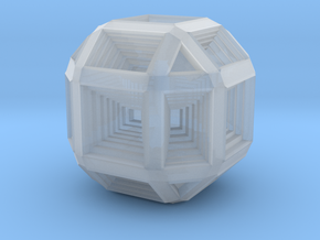Hypno Cube in Smooth Fine Detail Plastic