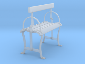 Reversible Bench Seat in Smooth Fine Detail Plastic: 1:32