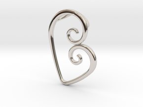 Swirl Heart Pendant - Original Reproduction in Platinum