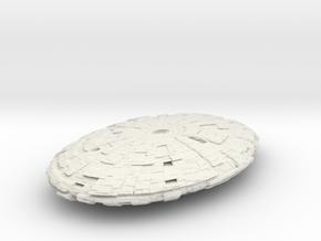 Borg BattleShip in White Natural Versatile Plastic