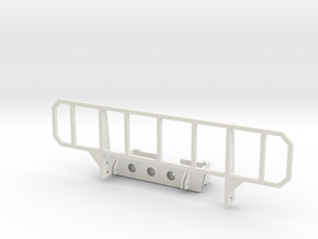 1:6 scale Hasbro bumper, brush guard in White Strong & Flexible