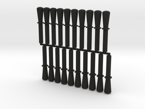 Lego Belaying Pin 20ct Multipack in Black Strong & Flexible