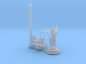 4 Inch Gun in Smooth Fine Detail Plastic