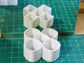 Ambiguous Cylinders : Five Rings in White Natural Versatile Plastic
