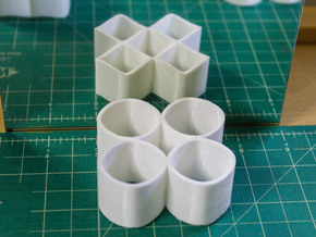 Ambiguous Cylinders : Four Rings in White Natural Versatile Plastic