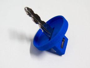 Ignition Key Cap in Blue Processed Versatile Plastic