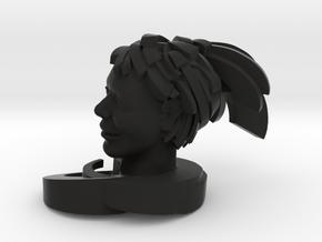 "Swoosh 2"" in Black Natural Versatile Plastic"