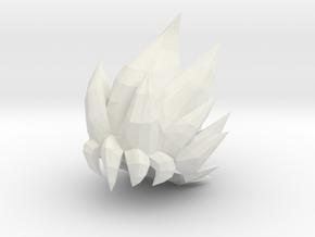 Custom Goku SSjG1 Inspired Hair for Lego in White Natural Versatile Plastic