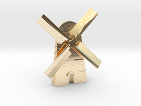 Magnet Windmill in 14k Gold Plated Brass