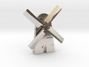 Magnet Windmill in Rhodium Plated Brass