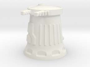 6mm Scale Sci-Fi Weapon Turret in White Natural Versatile Plastic