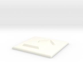 Pfeil nach rechts und nach oben in White Processed Versatile Plastic