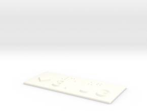 3.UG mit Pfeil nach unten in White Processed Versatile Plastic