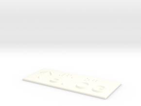 6.OG mit Pfeil nach oben in White Processed Versatile Plastic