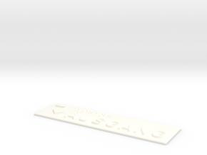 AUSGANG mit Pfeil nach rechts und nach unten in White Processed Versatile Plastic