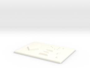 E1 mit Pfeil nach unten in White Processed Versatile Plastic