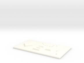 E-1 mit Pfeil nach unten in White Processed Versatile Plastic