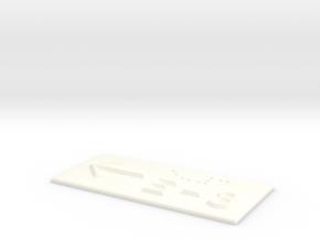 E-3 mit Pfeil nach links in White Processed Versatile Plastic