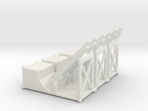 1/144 Mk 36 Mod 0 Rocket Launcher (3)  in White Strong & Flexible