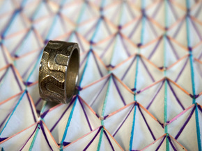 SchwarzD Ring in Polished Bronzed Silver Steel